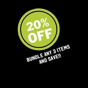 BUNDLE ANY 3 items in closet for 20% off!